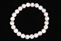 White Howlite Smooth Round Beaded Rubber Bracelet
