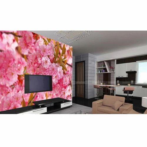 Tv Unit 3d Wallpaper, 3d Wallpaper - Emmanuel Designers And ...