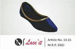 Royal Blue Flat Ladies Footwear