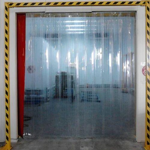 Industrial Curtain Plain PVC Strip Curtains, Thickness: 2