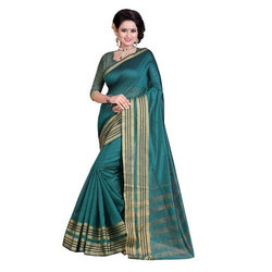 Embellished Banarasi Cotton Saree