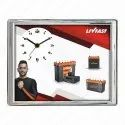 """White Analog Wall Clocks, Model Name/number: Gs-69, Size: 9 X 11.5"""""""