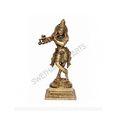 Brass Standing Krishna Statue