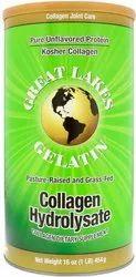 Powder Great Lakes Gelatin Collagen Hydrolysate, 16 Oz (454 G)