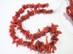 15 Natural Italian Real Branch Coral Stone Bead Strands