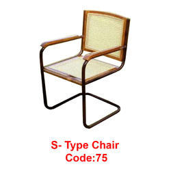 Gentil Stainless Steel, Wood S  Type Chair