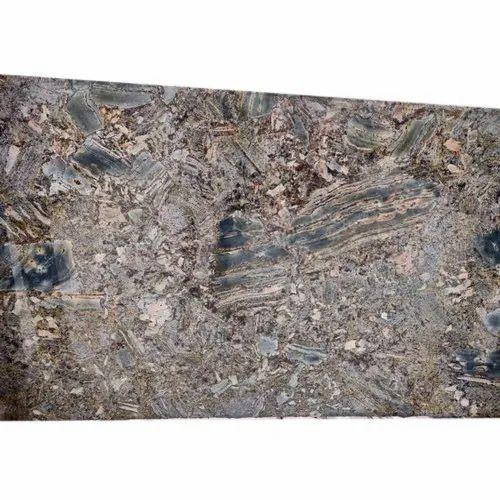 Grey Polished Dolphin Blue Granite Slab, Thickness: 20-25 mm