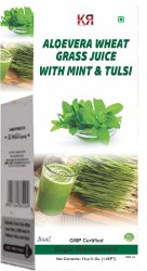 Aloevera Wheat Grass Juice With Mint And Tulsi