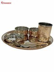 Copper / Stainless Steel Dinner Set (7 Pcs)