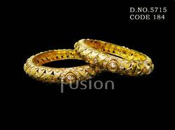 Wedding Traditional Polki Antique Bangle