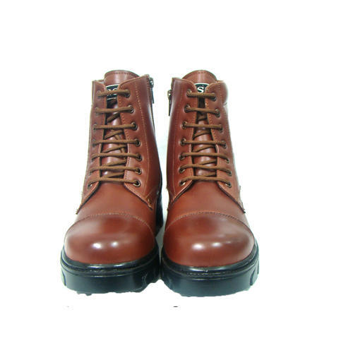 cf2d7467b7a Leather Army Shoes - Faux Leather DMS Boot Manufacturer from Agra