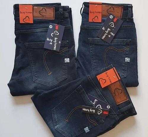 Mens Jack /& Jones Tim Slim Fit Stretch Jeans In Black Denim Blue Size 28-36