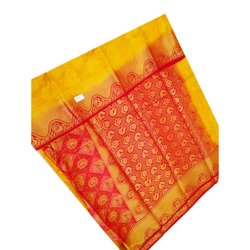 6.20 m Orange Designer Balatan Saree With Blouse Piece
