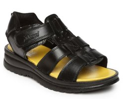 Paragon Mens Black Slickers Sandal