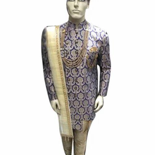 36 42 Inch Wedding Wear Mens Wedding Indo Western Sherwani Rs 2150