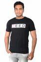 Half Sleevee Need WeedBlack Round Neck T Shirt