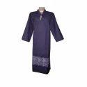 Navy Blue 3/4th Sleeve Ladies Casual Denim Kurti
