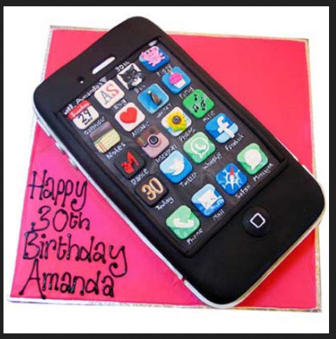 Techy Iphone Cake 2kg at Rs 3549 pack Designer Cakes For Birthday