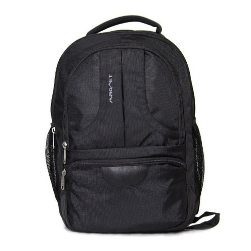697711421e27 Polyester And Leather Black Shoulder Backpack, Rs 1199 /piece | ID ...