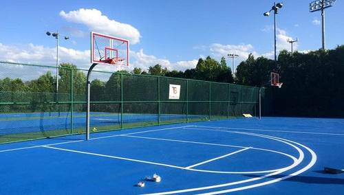 Blue Outdoor Basketball Court Floor Length 84 Feet Rs 55 Square Feet Id 12586229491