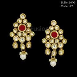 Designer Antique Kundan Earrings