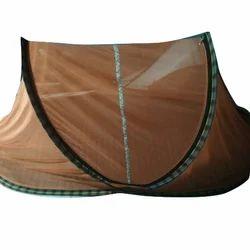 Polyester Orange Cotton Mosquito Net, Shape: Mongolian Yurt