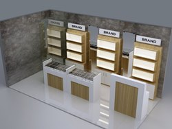 Eyewear Wall Display Unit With Shelves