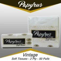 White 2 Ply Papyrus Vintage Tissue Paper Napkin