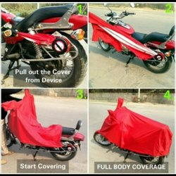 Red Rain Bike Cover
