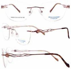 Salvador Female Graceful Designer Titanium Optical Eyeglasses-49034, Size: 52 mm