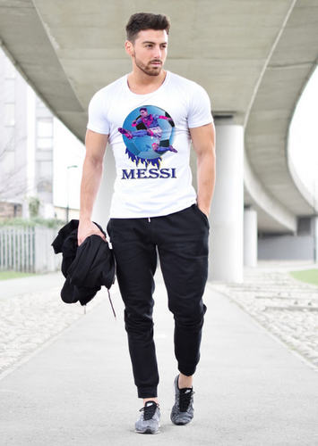 buy online 9cd7b 5ad54 6thcross Men S Russia Football World Cup 2018 T Shirt Messi Ball