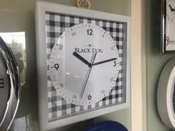 Black Printed Personalized Wall Clock