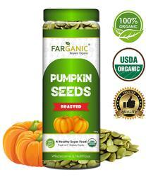 Organic Fresh and Healthy Premium Roasted Green Pumpkin Seeds 150gm