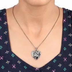 Diamond Tiger Pendant Necklace