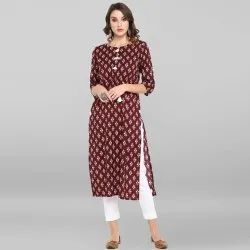 Maroon Pure Cotton Kurta(JNE3403)