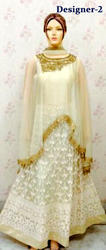 Bollywood Cape Anarkalis gowns heavy stone work ladies suits