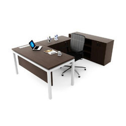L Shape Office Wooden Table