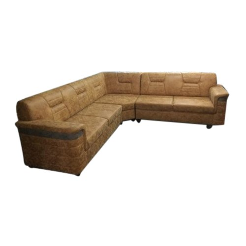 Brown 5 Seater Corner Designer Sofa Set, Back Style: Tight Back
