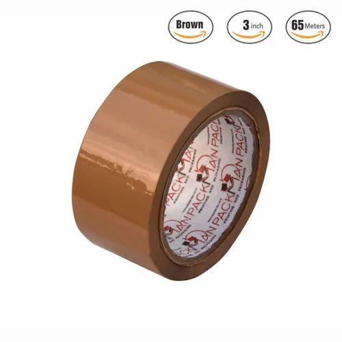 Packman BOPP 72 Mm 3 Inches Brown Self Adhesive Tape X 65 Meter Length