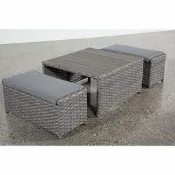 Cocktail Coffee Table and Chair Cube Sofa Set