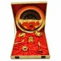 Gold Plated Pooja Thali Set