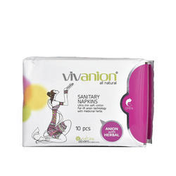 Vivanion Anion Natural Organic Cotton Sanitary Napkin Pad