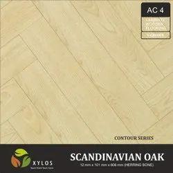 Scandinavian Oak Laminate Herringbone Wooden Flooring