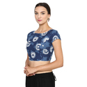 Designer Indigo Blouse Cotton