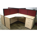 4 Seater X Shape Formation Workstation