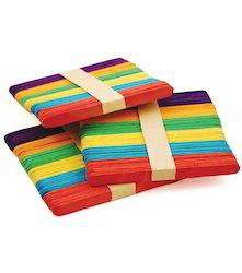 Colored Wooden Ice Cream Sticks, Size: 12-17 Cm (l)