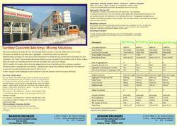 Turnkey Concrete Batching Mixing Plant