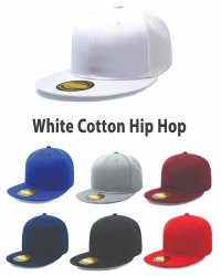 White Cotton Hiphop Cap