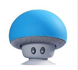Mini Portable Cute Mushroom Head Bluetooth Speaker Wireless Stereo Speaker with Suction Cup