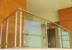 Steel And Glass Railing Design For Terrace